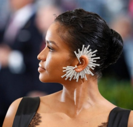 Rinaldys Swarovski-encrusted Earpiece has Won as One of the Best Jewelry Pieces at The Met Gala 2017.